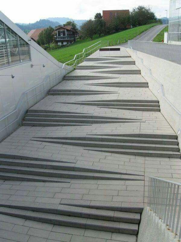 Linda escadaria/rampa! #maqueteslz #arquitetura #acessibilidade