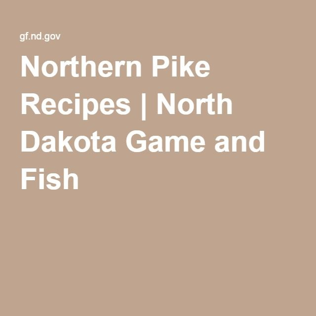 Northern pike recipes north dakota game and fish yummy for South dakota game and fish