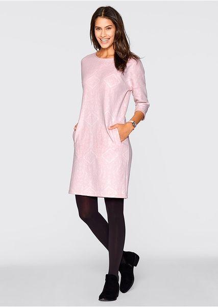 Sukienka dresowa, rękawy 3/4 Wygodna • 139.99 zł • bonprix