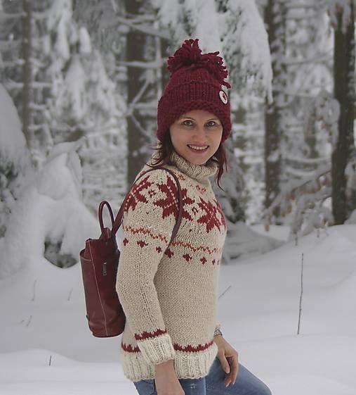 Nórsky pulóver do snehovej fujavice...