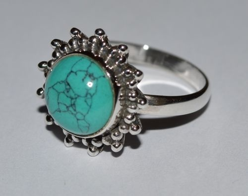925 Sterling Silver Turquoise Ring - Ocean Melody