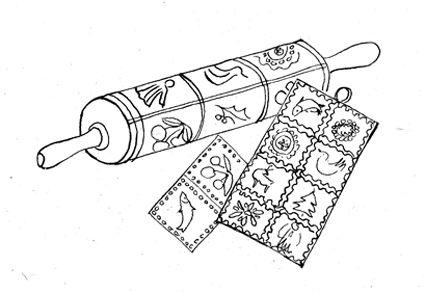 Rycraft Cookie Stamps - Cookie Recipes & Baking Tips - 20 Scandinavian Cookies by Robin Rycraft, 1971 - Springerle