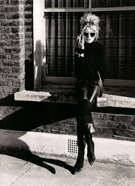 mod hair: Magazine, Black Clothing, Retro Hair, Abbey Clancy, All Black, Big Hair, Rocks Chic, 60S Hair, Style Fashion