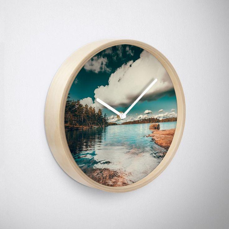 'Belle Svezia' Clock by HappyMelvin. #nature #landscape #wanderlust #walldecor #wallclock #clocks