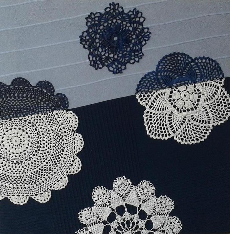 Blue doilies by Hanna Grochowska