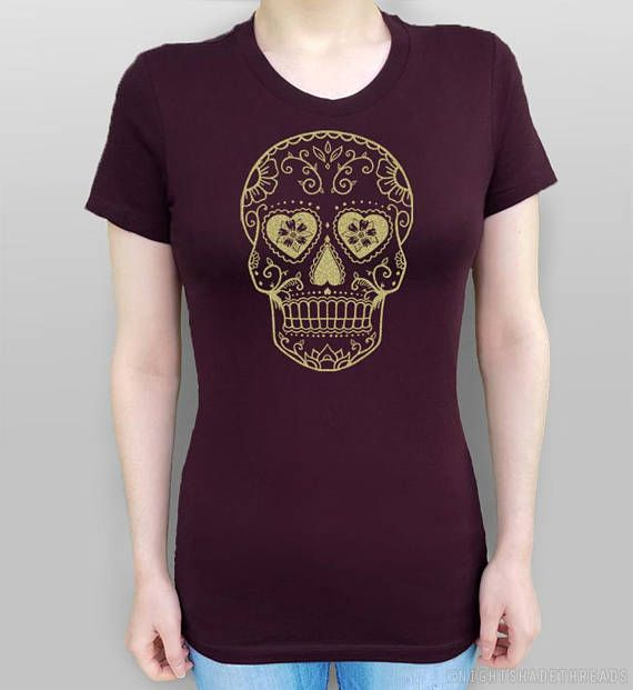 Sugar Skull Shirt Sugar Skull T-Shirt Day of the Dead Calavera