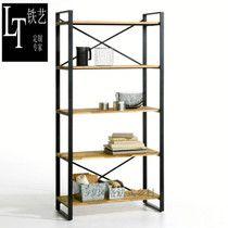 Специальные стали древесины шкафы книжный шкаф дисплей полки от IKEA детей Bookshelf стойку из кованого железа полки деревянные рамы могут быть настроены