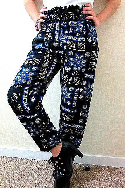 Pantalón Oriental con cinturilla cosida con hilo elástico - EL BAÚL DE LAS COSTURERAS