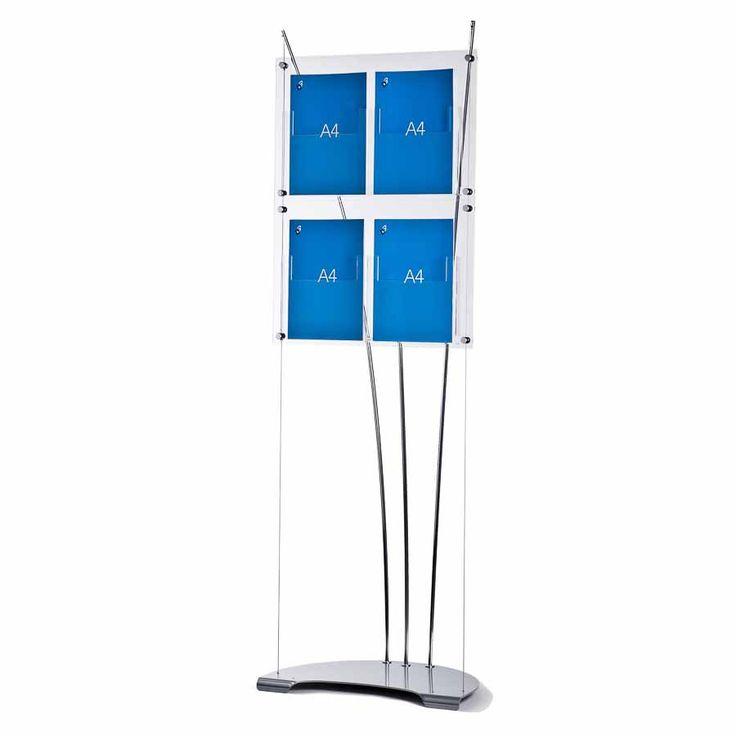 Brochure holder display – 4 x A4 acrylic pockets