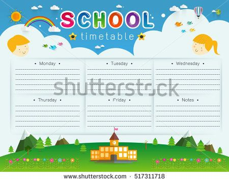 The 25 best School timetable ideas – School Time Table Designs