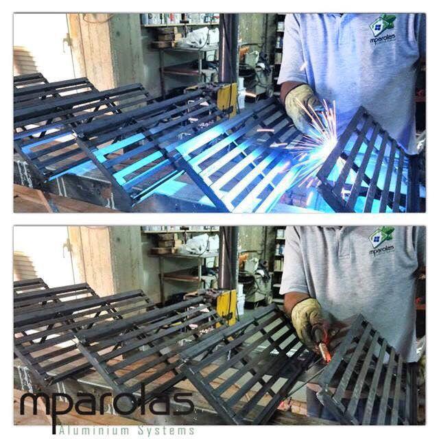 Κατασκευή μεταλλικής σκάλας. #mparolas #metal #staircase