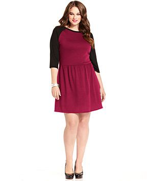 plus size dresses red