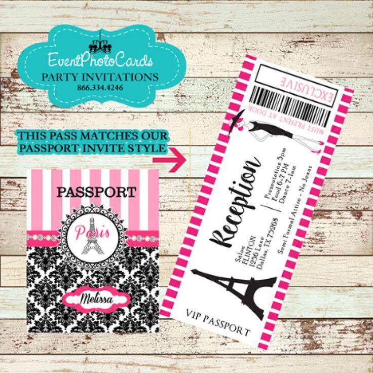 13 best passport quinceanera invitations images on Pinterest ...