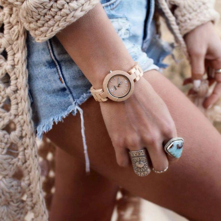 Dámský model WeWood - MIMOSA Beige. Dřevěná krása na vaší ruce! http://www.24time.cz/mimosa-beige/