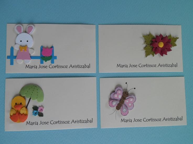 tarjetas de presentacion para niños Creaciones CECY Pinterest