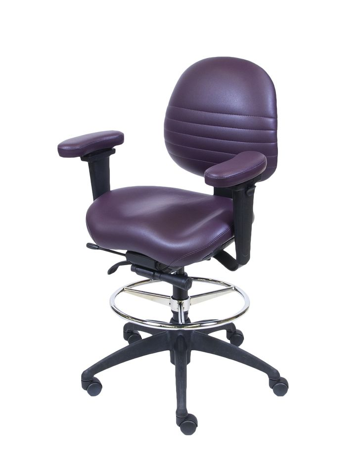 LIFEFORM 8594 Task Contour Brisa UltraFabric with Foot Ring and Petite Contour Seat.