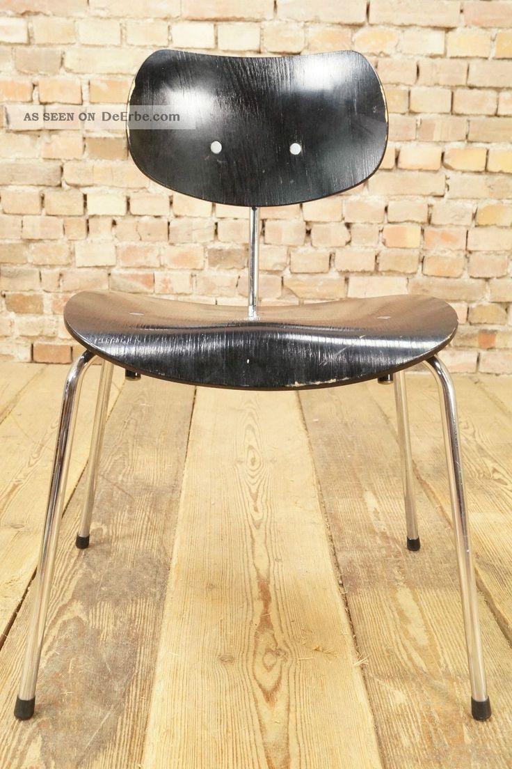 60er Se 68 Egon Eiermann Stuhl Wilde & Spieth Ws Chrom Chair Mid - Century 70s 1950-1959 Bild