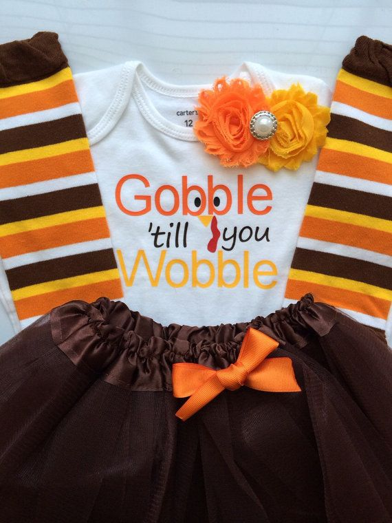 Toddler girl Thanksgiving outfit-  Toddler Girl Fall Outfit - Gobble 'till you Wobble - Toddler girl photo outfit - thanksgiving legwarmers