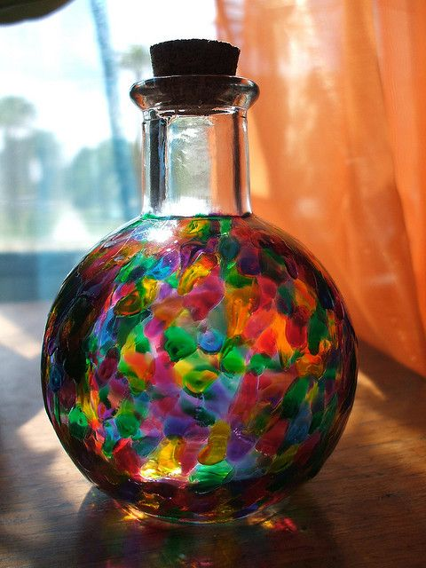 39 best painted bottles images on pinterest Painting old glass bottles