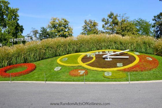The L'horloge fleurie in Geneva, Switzerland.