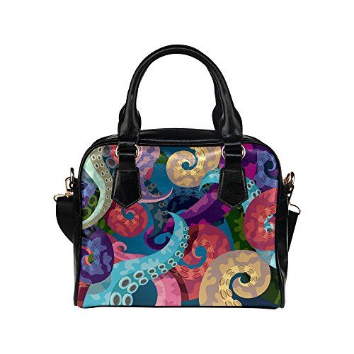 New Trending Make Up Bags: InterestPrint Octopus Sea Ocean Life Womens Shoulder Handbag/Tote Bag/Travel Bag. InterestPrint Octopus Sea Ocean Life Women's Shoulder Handbag/Tote Bag/Travel Bag  Special Offer: $39.99  199 Reviews Dimension:13.4″(L) x 6.3″(W) x 9.0″(H). Type: Canvas  PU leather, zippered top closure,twin-side Printings,the front picture is the same...