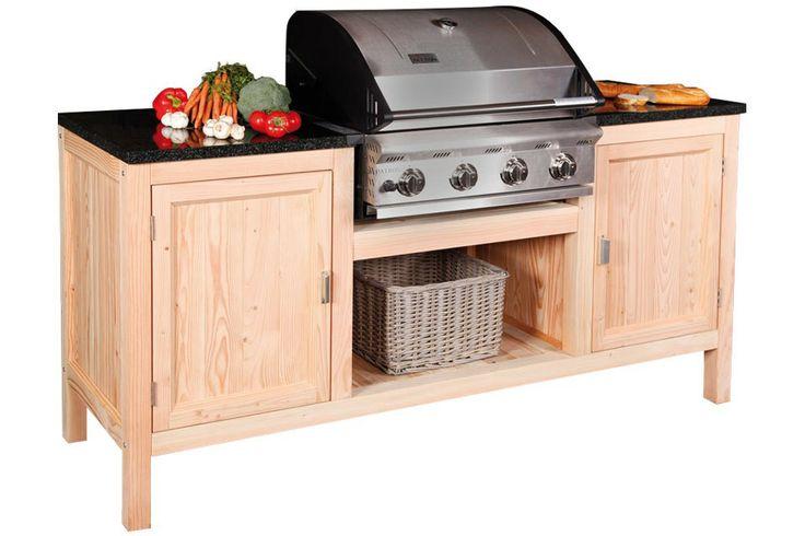 Houten buiten keuken - Meubilair outdoor houten keuken ...