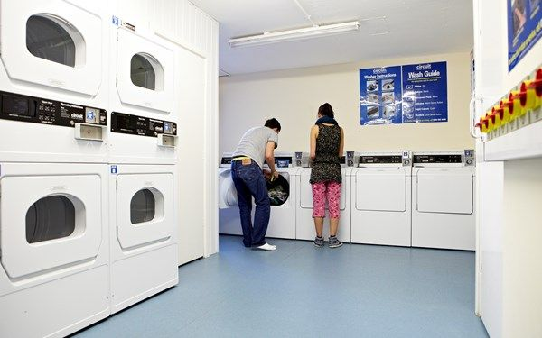 Keep on top of your laundry with out on-site launderette.