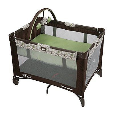 Graco Pack n Play Baby PLAYPEN, Compact Folding BABY PLAY YARD + BASSINET, Zuba