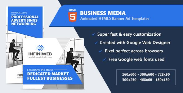 Html5 Animated Banner Ads Business Media Gwd Animated Banner Ads Animated Banners Banner Ads