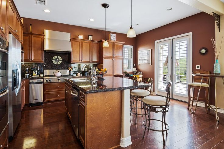 Traditional Kitchen with flush light, High ceiling, two dishwashers, Simple Granite, Flush, Pendant Light, Kitchen island