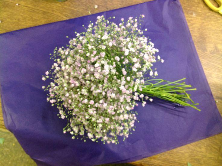 Pink Gypsophilia bouquet