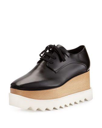 Elyse+Platform+Oxford,+Black+by+Stella+McCartney+at+Neiman+Marcus.