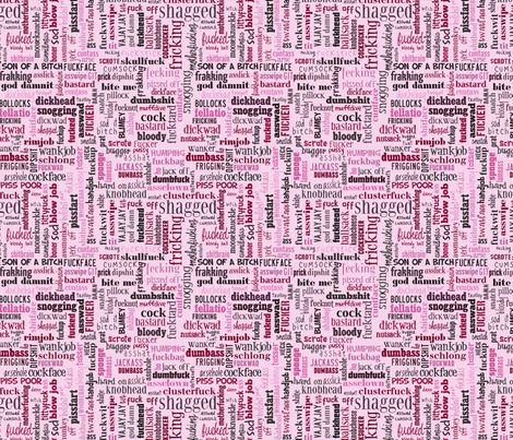 my sweary fabric now comes in pink, for those who like that kind of thing :)