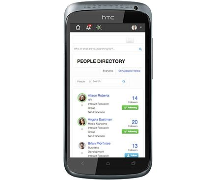 People Directory on Interact Intranet.