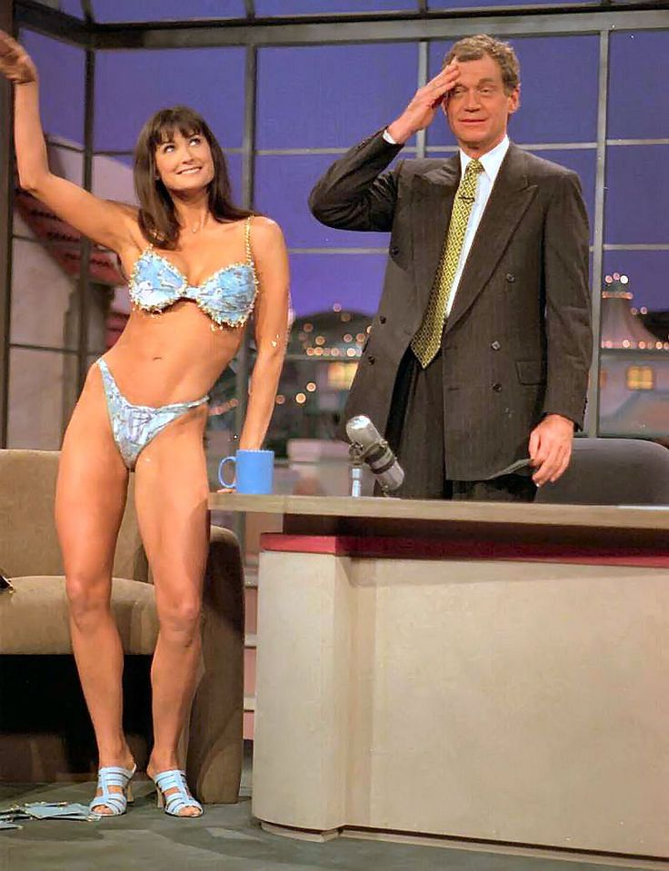 THE DAVID LETTERMAN SHOW (NBC-TV) - David Letterman welcomes Demi Moore on a promotional tour for her new movie, 'Striptease'