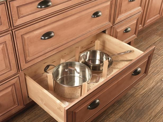 Base Cabinet Drawers For Pots. 2013 Kitchen Cabinet Trends #3