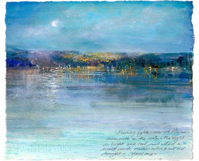Amanda-Hoskin Prints - Pages from the Sketchbook-Evening Lights, Polruan