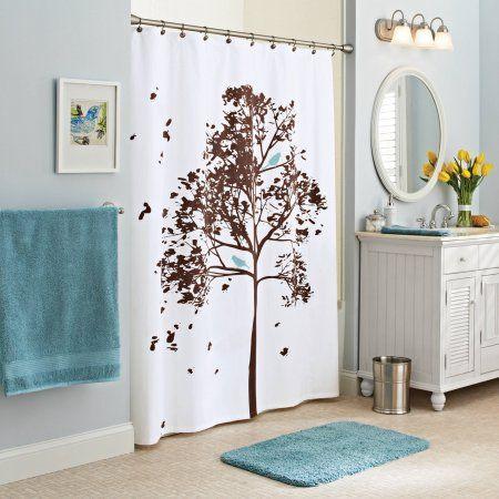 Better Homes And Gardens Farley Tree Fabric Shower Curtain   Walmart.com