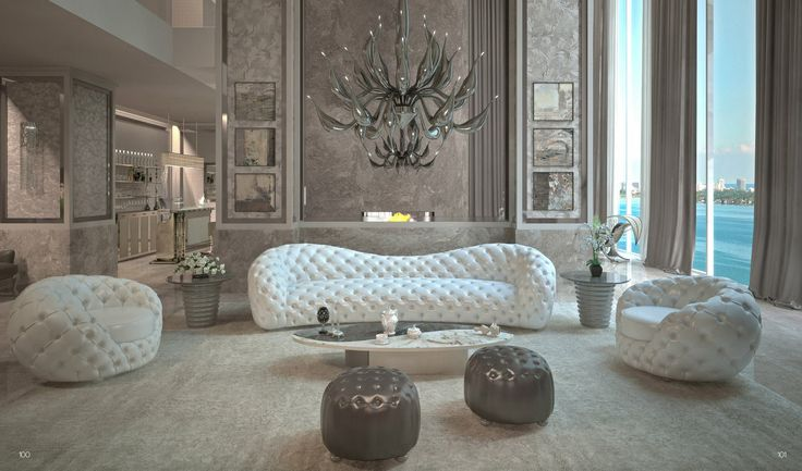 The Nuvola four seater sofa from the DecòGlam by Mantellassi 1926