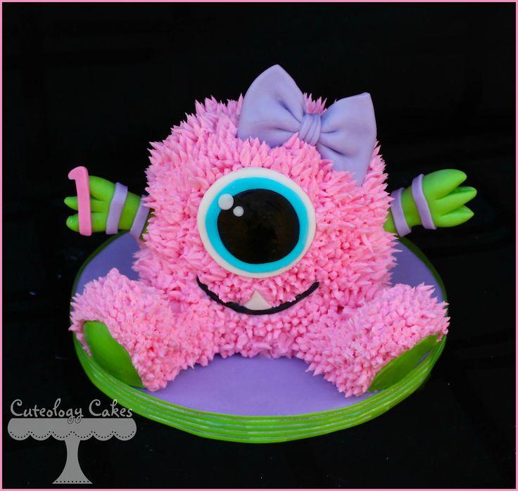 Girly Little Monster Smash Cake  www.facebook.com/i.love.cuteology.cakes