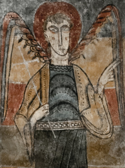 Romanesque art from the MNAC collection Source: 0rpheus http://beverleyshiller.tumblr.com/post/21381656819/0rpheus-guys-got-wings-must-be-an-angel