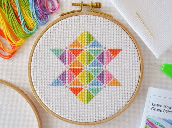Cross Stitch For Beginners  Complete Cross by theworldinstitches