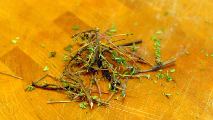 Reclaim thyme stems by using them to flavor cocktail syrup.