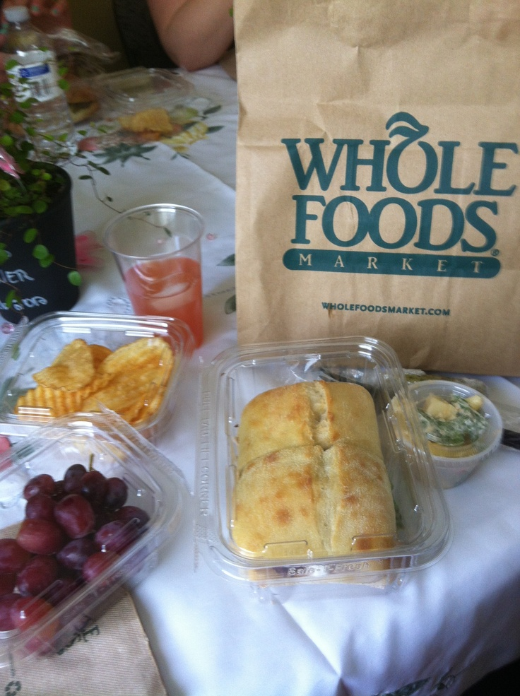 Whole foods baby shower lunch