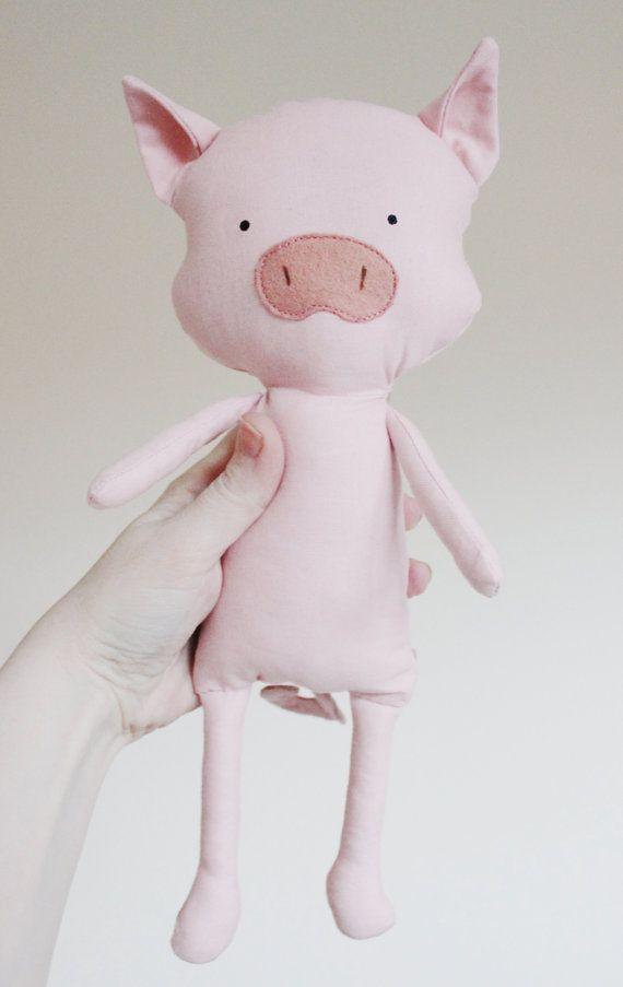 Cerdo costura patrón Piglet blando peluche muñeco patrón por ElfPop