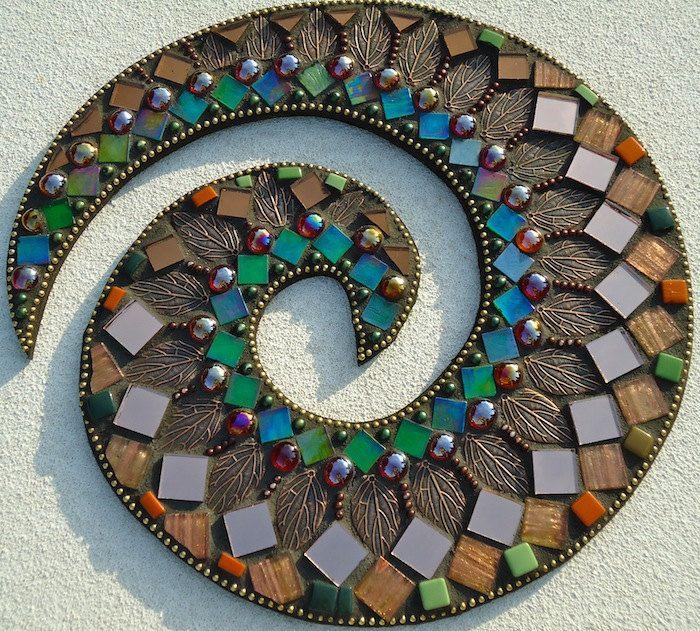 Copper Fall - A Mosaic Art Swirl, 13 inches in diameter. $199.00, via Etsy.