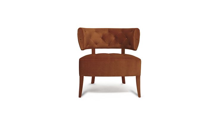 ZULU velvet armchair is a simple piece, although its structure and colour gives the prestige that only mid century modern pieces have | Discover more bedroom chairs ideas: http://masterbedroomideas.eu