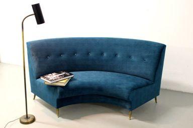 divano curvo produzione italiana anni '50 nero design arezzo 4