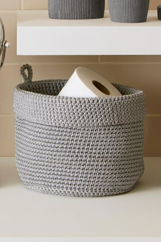 A very cute  small knitted basket  It s ideal for the loo roll storage. Best 25  Downstairs toilet ideas on Pinterest   Downstairs loo