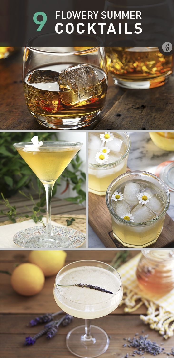 Now that summer is in full bloom outside, take some time to stop and smell the roses—and then... http://greatist.com/eat/floral-cocktail-recipes